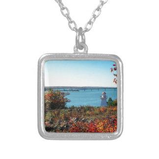 Bridge to St Joseph Island Silver Plated Necklace