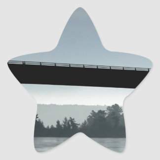 Bridge to St Joseph Island Star Sticker