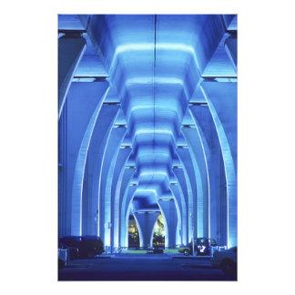 Bridge, underneath lighting, Port of Miami, Art Photo