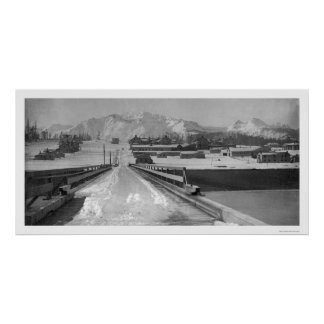 Bridge View Seward, Alaska 1910 Poster