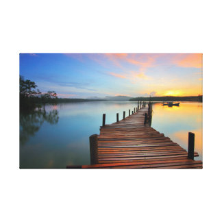 Bridge | Water | Yoga Canvas Print