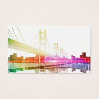 Bridge with City skyline in the background Business Card