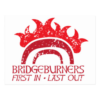 Bridgeburners First in last out insignia 2 Postcard