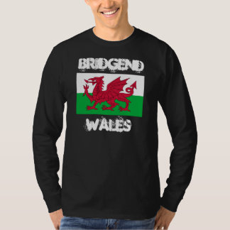 Bridgend, Wales with Welsh flag T-Shirt