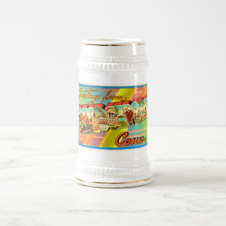 Bridgeport Connecticut CT Vintage Travel Souvenir Beer Stein
