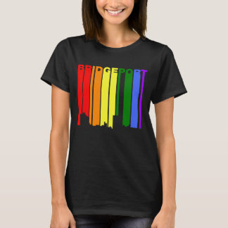 Bridgeport Connecticut Gay Pride Rainbow Skyline T-Shirt