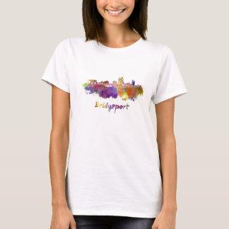 Bridgeport skyline in watercolor T-Shirt