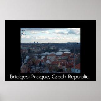 Bridges in Prague Poster