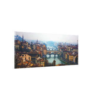 Bridges of Florence Italy Canvas Print