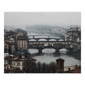 Bridges of Florence Italy Poster