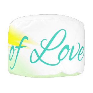 Bridges of Love text color design Pouf