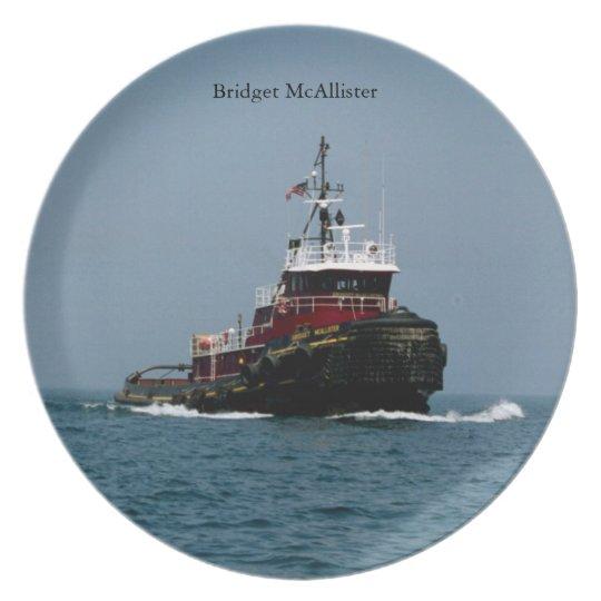 Bridget McAllister plate