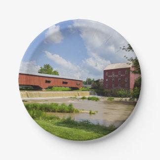 Bridgeton Bridge And Mill Paper Plate