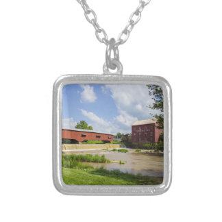 Bridgeton Bridge And Mill Silver Plated Necklace