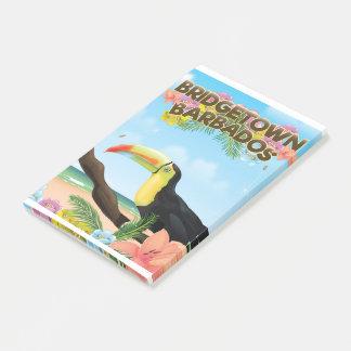 Bridgetown Barbados Toucan travel poster Post-it® Notes