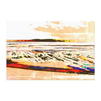 Bridgewater N.S. Riser's Beach Abstract print art