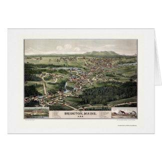 Bridgton, ME Panoramic Map - 1888 Card