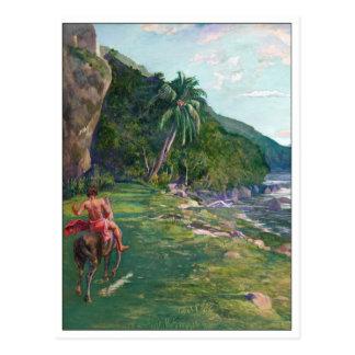Bridle Path Tahiti by La Farge Postcard