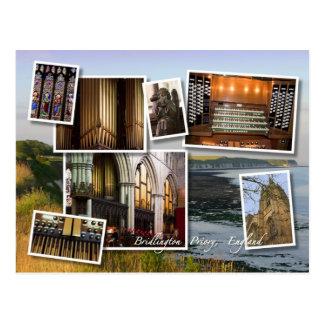 Bridlington Priory montage postcard