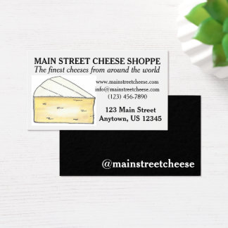 Brie Cheese Shoppe Shop Food Business Chef Foodie Business Card