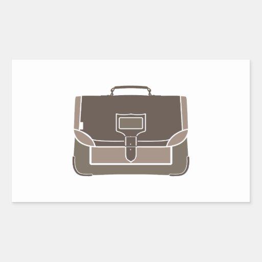 Briefcase Rectangular Stickers