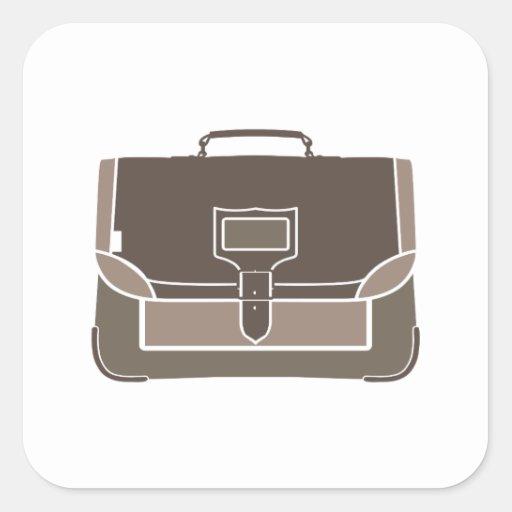Briefcase Square Sticker