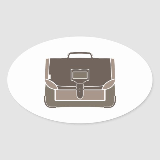 Briefcase Oval Stickers