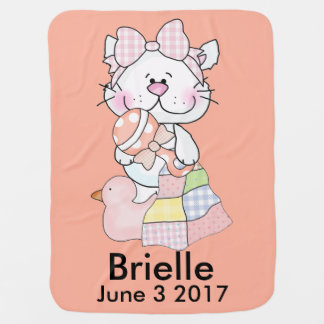 Brielle's Personalized Kitty Baby Blanket