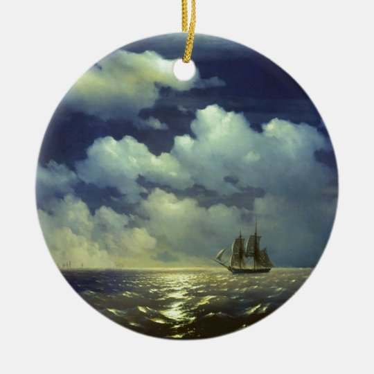 Brig Mercury after the Victory over Turkish Ships. Ceramic Ornament