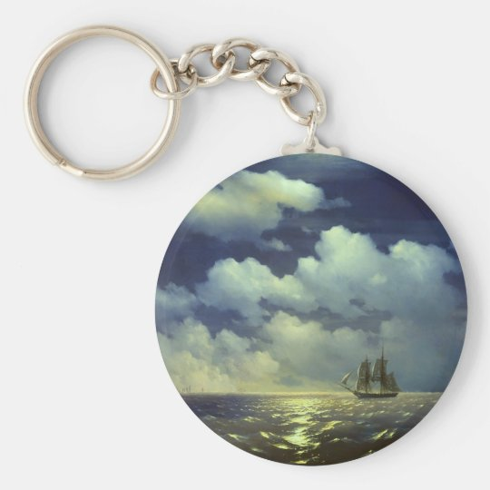 Brig Mercury after the Victory over Turkish Ships. Keychain