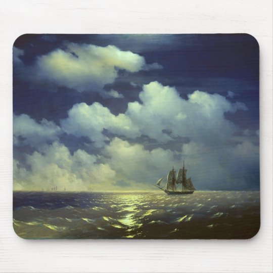 Brig Mercury after the Victory over Turkish Ships. Mouse Pad