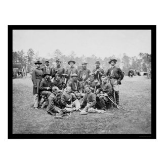 Brigade Officers of the Horse Artillery, VA 1862 Poster