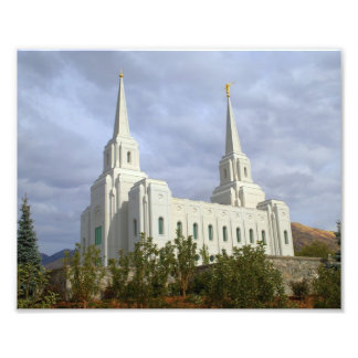 Brigham CIty Utah LDS, Mormon Temple Photo Print