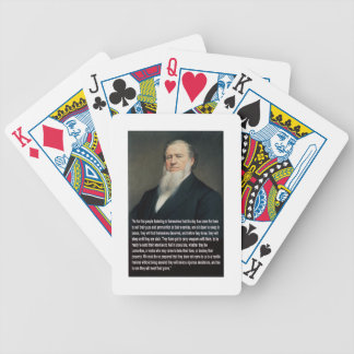 Brigham Young on Guns Bicycle Playing Cards