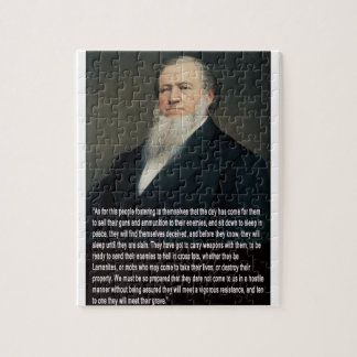 Brigham Young on Guns Jigsaw Puzzle