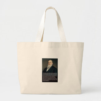 Brigham Young on Guns Large Tote Bag