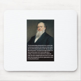 Brigham Young on Guns Mouse Pad
