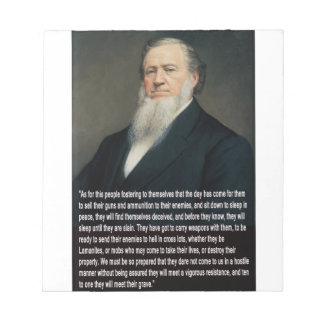 Brigham Young on Guns Notepads