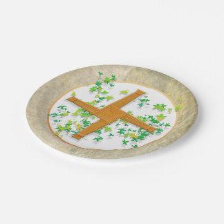 Brighid Cross Paper Plate