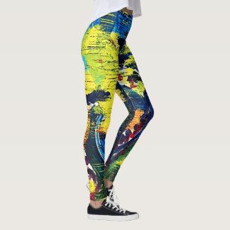 Bright Abstract Drop Cloth Leggings
