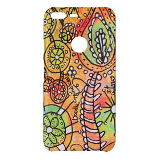 Bright Abstract Floral Doodle Artistic Colorful Uncommon Google Pixel XL Case