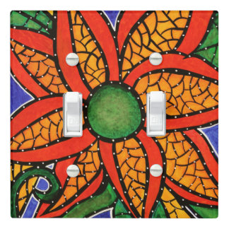 Bright Abstract Flower Light Switch Cover