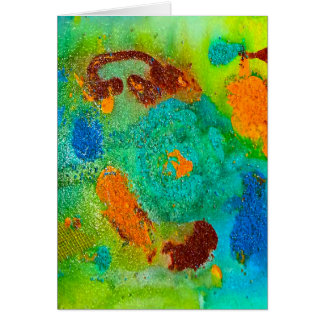 Bright Abstract Greeting Card