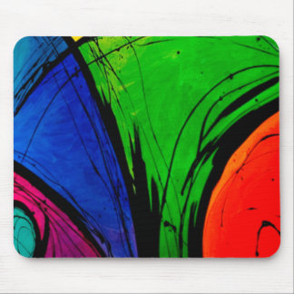 Bright Abstract Groovy Art Mouse Pad
