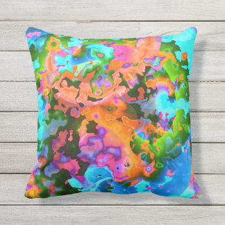Bright Abstract Outdoor Pillow