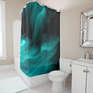 Bright Abstract Teal