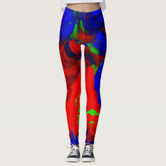 Bright Abstract Water Color Red Green Blue Pants