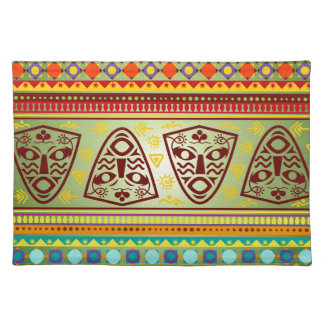 Bright African Mask Tribal Pattern Placemat