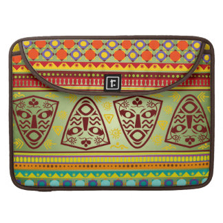 Bright African Mask Tribal Pattern Sleeve For MacBooks