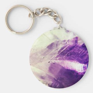 Bright Amethyst Crystal Keychain
